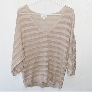 Lucky Brand V-Neck Boxy Sleeve Sweater